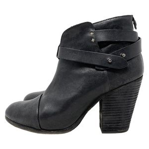 Rag and Bone Harrow Leather Ankle Western Boots